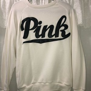 PINK by Victoria's Secret White Logo Crew